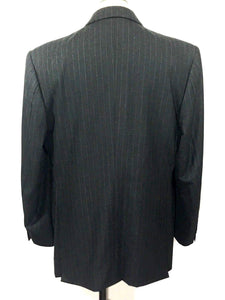Astor & Black Bespoke Scabal Finest Cloth Pin Stripe Blazer Sport Coat Mens 40 R - Preowned - FunkyCrap Boutique