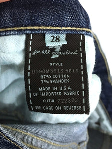 7 For All Mankind Jeans Straight Embellished Stud Chile Silver Foil Womens 28x31 - Preowned - FunkyCrap Boutique