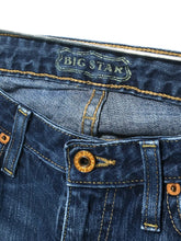 Big Star Jeans Mia Boot Cut Dark Stretch Distressed Womens 28R Actual 30 x 34 - Preowned - FunkyCrap Boutique