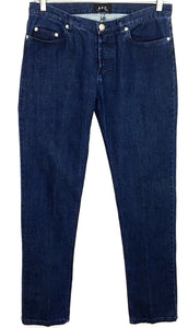 A.P.C. Rue De Fleurus Paris Button Fly Straight Leg Jeans Men's 30 Actual 29x33 - Preowned - FunkyCrap Boutique