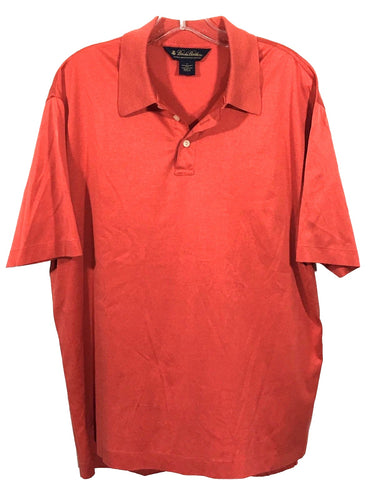 Brooks Brothers Double Mercerized Cotton Rust Orange SS Polo Shirt Mens Medium - Preowned - FunkyCrap Boutique