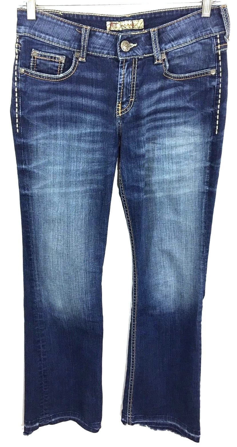 BKE Buckle Denim Culture Boot Cut Jeans Dark Wash Stretch Women's Size 29 x 29.5 - Preowned - FunkyCrap Boutique