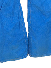 Betsey Johnson Blue Corduroy Jeans Distressed Pants Stretch Juniors Womens 26 - Preowned - FunkyCrap Boutique