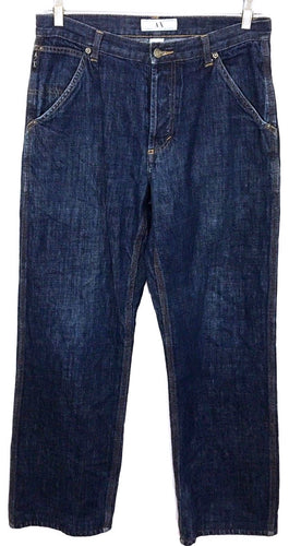 Armani Exchange AX A|X Jeans Dark Wash Button Fly Straight Leg Mens Size 31 x 31 - Preowned - FunkyCrap Boutique