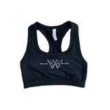 Racerback Sports Bra - Black