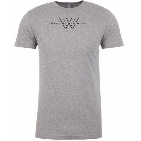 Fitted Shield Tee - Heather Grey