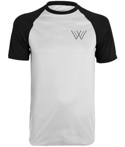 Fitted Contoured Baseball Tee - White