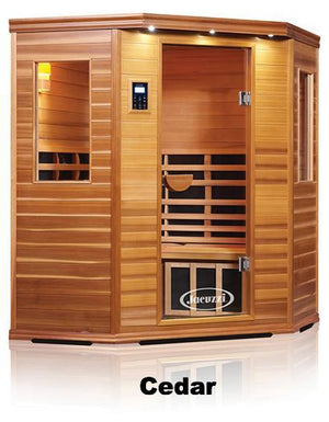 Premier IS-C: Three Person Corner Far Infrared Sauna