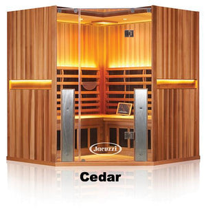 Sanctuary C: 4 Person Full Spectrum Infrared Corner Sauna