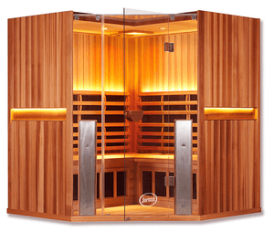 Infrared Sauna For Sale - Sanctuary C: 4 Person Full Spectrum Infrared Corner Sauna