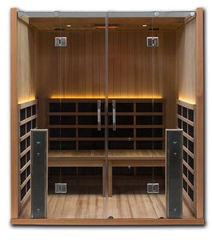 Infrared Sauna For Sale - Sanctuary Retreat: 4 Person ADA Compliant Full Spectrum Infrared Sauna