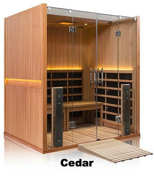 Sanctuary Retreat: 4 Person ADA Compliant Full Spectrum Infrared Sauna