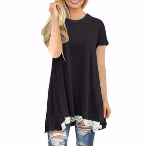 Womens Casual Short Sleeve Shirt