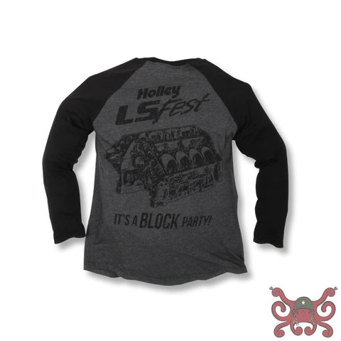 2017 Holley LS Fest Its a Block Party Baseball Tee #10120-XLHOL Apparel