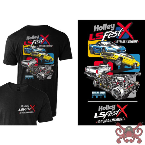 2019 Holley LS Fest Drag Racing Event T-Shirt #10222-LGHOL Apparel
