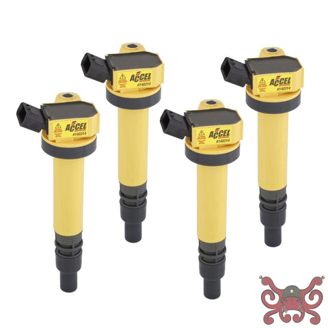 ACCEL Ignition Coil - SuperCoil - Toyota 1.8L - I4 - 4-Pack #140314-4 Ignition Coils