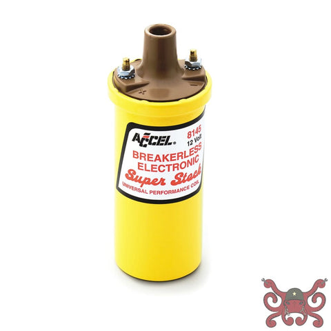 ACCEL Ignition Coil - SuperStock - Breakerless Electronic Coil - Yellow #8145ACC Ignition Coils