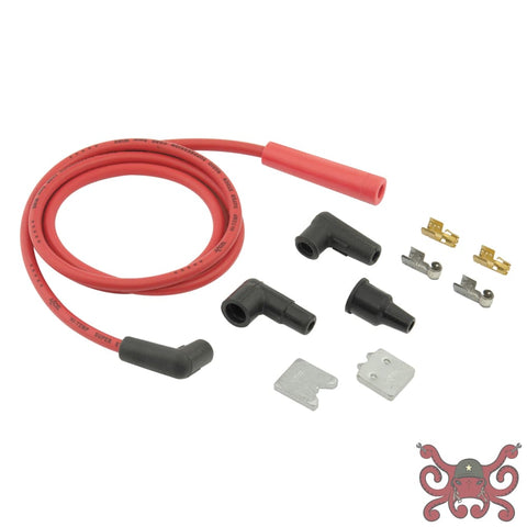 ACCEL Single Wire Replacement Kit - Staight and 90 Spark plug boots - Universal - Red #170500R Spark Plug Wires