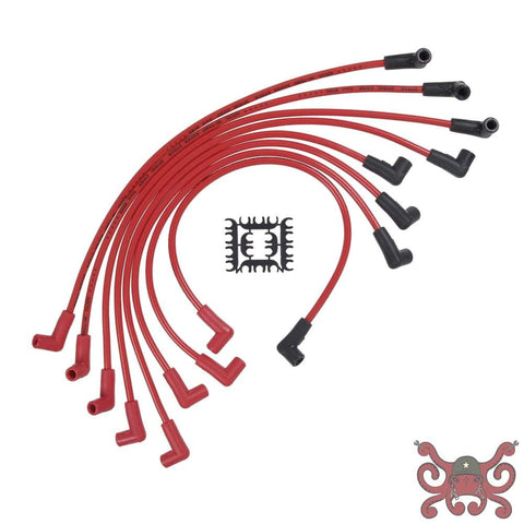 ACCEL Spark Plug Wire Set - 8mm Super Stock - HEI Corrected Cap - Ferro-Spiral - Red #5055R Spark Plug Wires