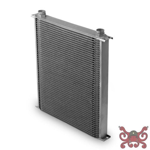Earls Temp-A-Cure Oil Cooler - Grey - 42 Rows - Wide Cooler -10 O-Ring Boss Female Ports #44200ERL Oil Cooler