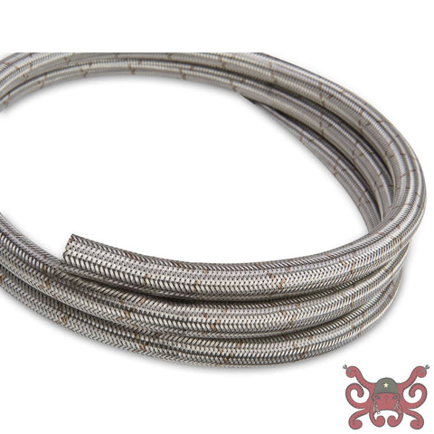 Earls Ultra Flex Hose Size -4 Stainless Steel Braid - Bulk Hose Sold By the Foot in Continuous Length up to 25 #660004ERL Hose