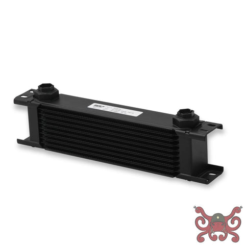 Earls UltraPro Oil Cooler - Black - 10 Rows - Wide Cooler - 10 O-Ring Boss Female Ports #410ERL Oil Cooler