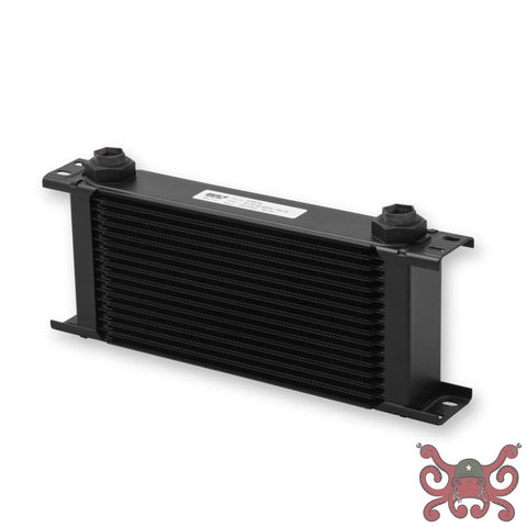 Earls UltraPro Oil Cooler - Black - 16 Rows - Wide Cooler - 10 O-Ring Boss Female Ports #416ERL Oil Cooler