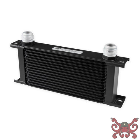 Earls UltraPro Oil Cooler - Black - 16 Rows - Wide Cooler - 16 AN Male Flare Port #416-16ERL Oil Cooler