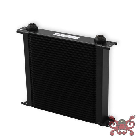 Earls UltraPro Oil Cooler - Black - 34 Rows - Wide Cooler - 10 O-Ring Boss Female Ports #434ERL Oil Cooler