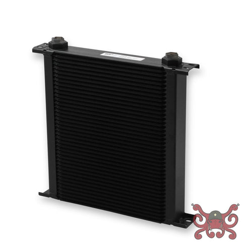 Earls UltraPro Oil Cooler - Black - 40 Rows - Wide Cooler - 10 O-Ring Boss Female Ports #440ERL Oil Cooler