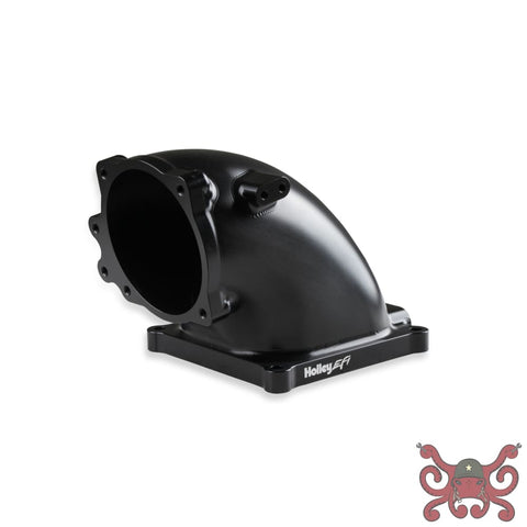 Holley EFI Billet 4500 EFI Throttle Body Intake Elbow-Ford 5.0 to 4500-Black Finish #300-254BK Intake Elbow
