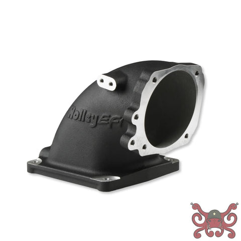 Holley EFI Cast Aluminum 4500 EFI Throttle Body Intake Elbow-Ford 5.0 to 4500-Black Finish #300-249BK Intake Elbow