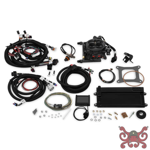 Holley EFI Terminator LS TBI Kit - Hard Core Gray w/ Transmission Control #550-422 Terminator LS TBI Kit