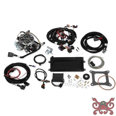 Holley EFI Terminator LS TBI Kit - Polished w/ Transmission Control #550-421 Terminator LS TBI Kit