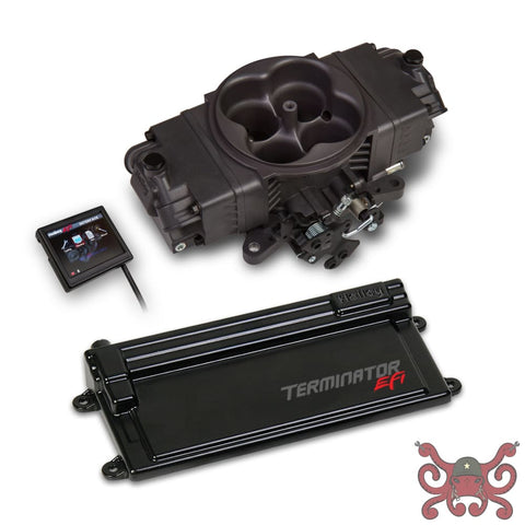 Holley EFI Terminator Stealth EFI w/ GM Transmission Control -Hard Core Gray #550-443 Stealth Terminator Kit