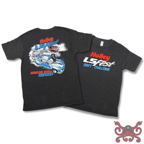 Holley LS Fest Bowling Green KY Drift Challenge Tee #10121-XXXLHOL Apparel