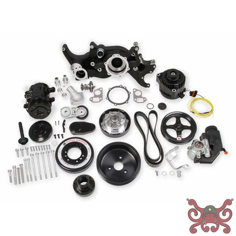 HOLLEY PREMIUM BLACK MID-MOUNT LS7 COMPLETE ACCESSORY SYSTEM Black