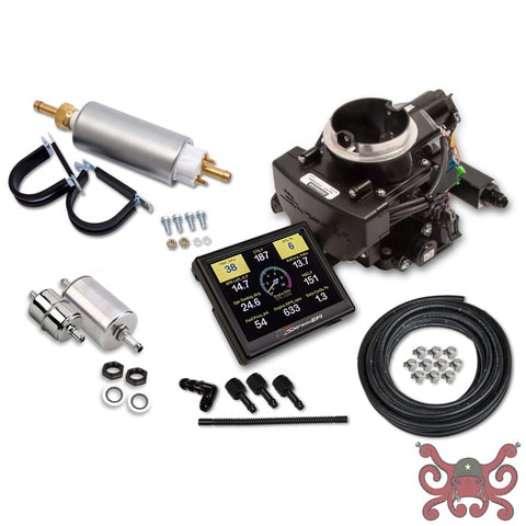 Holley Sniper EFI 2GC Small Bore Master Kit - Black Ceramic Finish #550-865K Sniper EFI 2GC Small Bore
