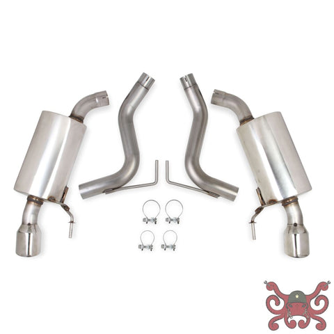 Hooker BlackHeart Axle-Back Exhaust System (With Mufflers) #70403313-RHKR Exhaust System