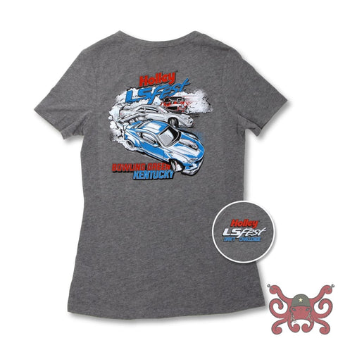 Ladies Gray Holley LS Fest Drift Challenge Tee #10113-XLHOL Apparel
