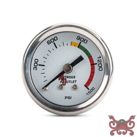 Nitrous Outlet Bottle Pressure Gauge - 4AN Nitrous Kits