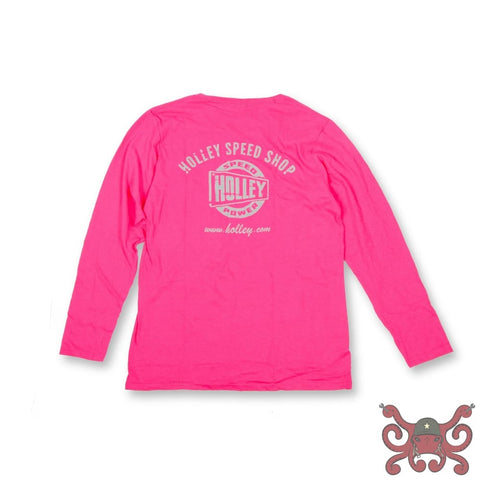 Pink Holley Speed Shop Long Sleeve Tee #10105-XLHOL Apparel