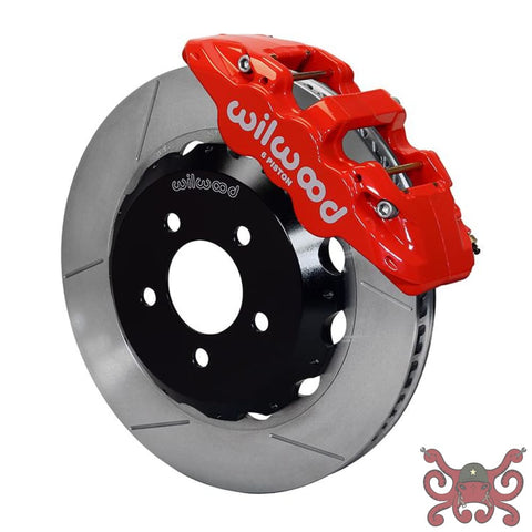 Wilwood 5th Gen Camaro AERO6 Big Brake Front Brake Kit Slotted / Red Brake Kit