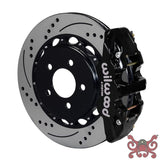 Wilwood AERO4 Big Brake Rear Brake Kit For OE Parking Brake Drilled & Slotted / Black Brake Kit