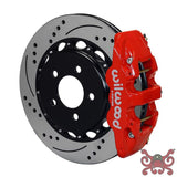 Wilwood AERO4 Big Brake Rear Brake Kit For OE Parking Brake Drilled & Slotted / Red Brake Kit