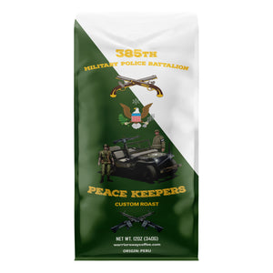 385th Military Police Battalion Peace Keepers Medium Roast Ground Coffee - Peruvian Organic