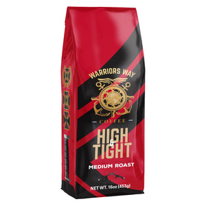 Warriors Way Coffee High & Tight Medium Roast Organic Ground Coffee