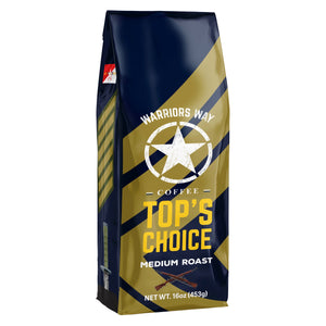 Warriors Way Coffee Top's Choice Medium Roast Ground Coffee