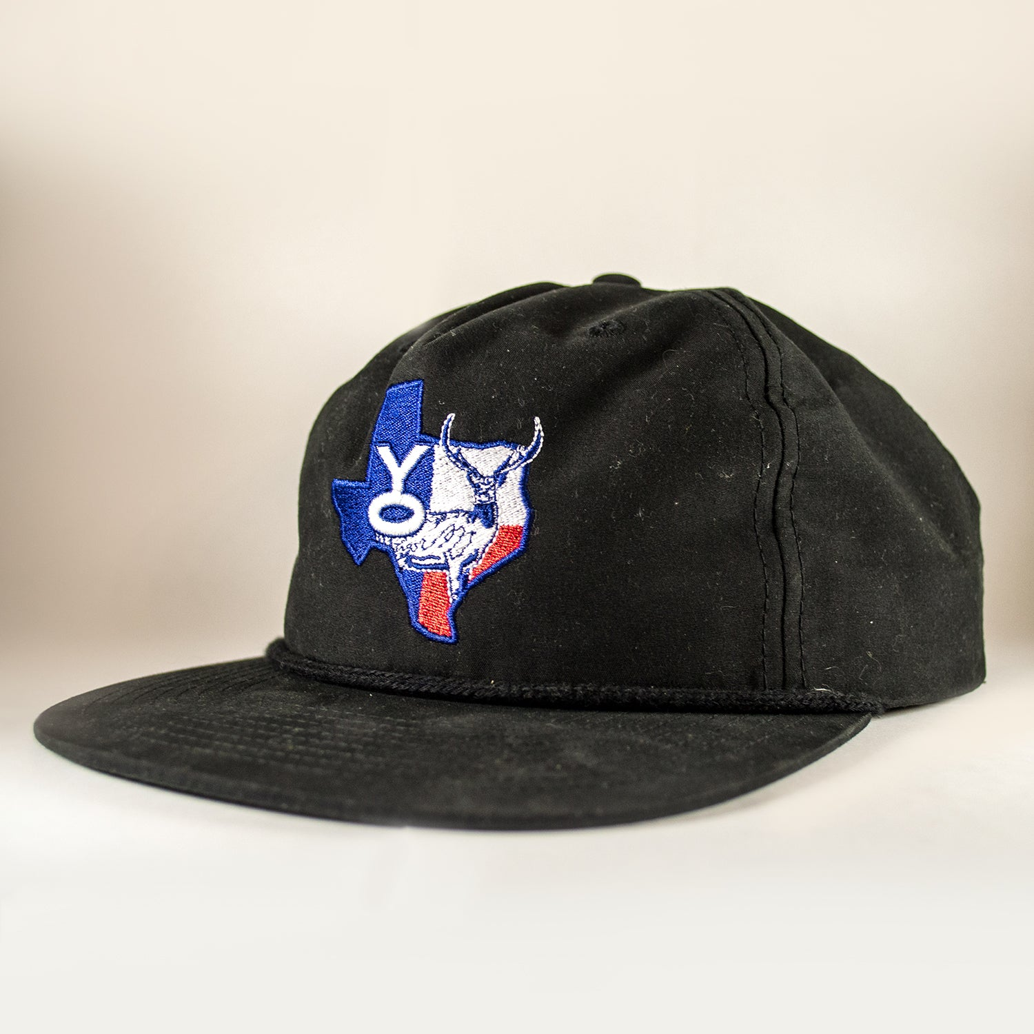 YO Texas Axis Patch Snapback - Black