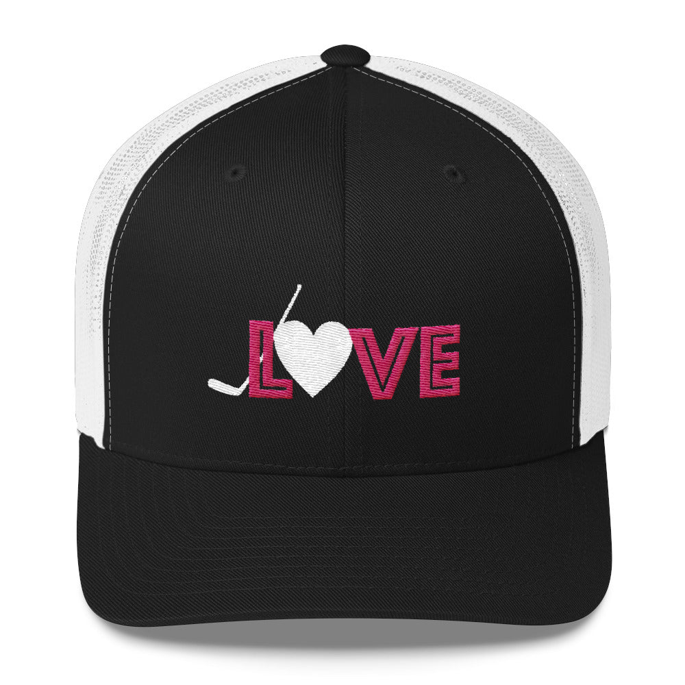Love Hockey Trucker Cap